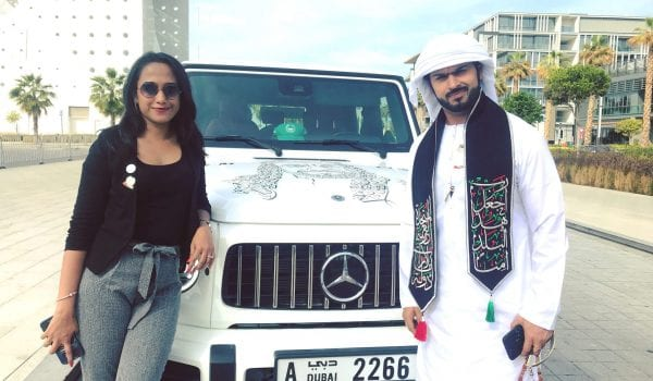 Car decoration for UAE National Day!