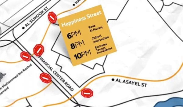 NYE traffic in Dubai: Here are the road closures to know about…