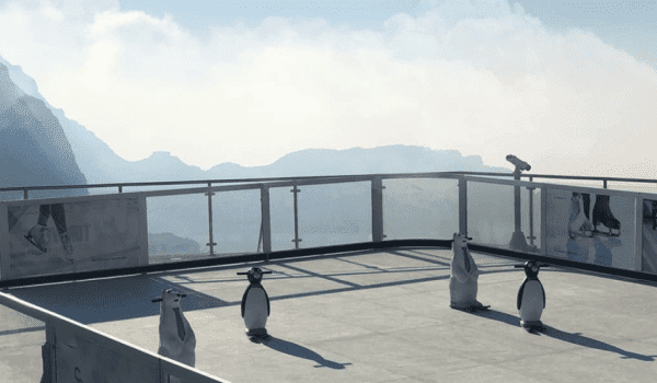 There is now an ice rink on the tallest mountain in the UAE