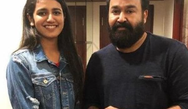 Priya Varrier shares a fangirl moment with superstar Mohanlal!!