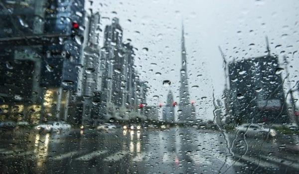 Rain & dusty weather in UAE