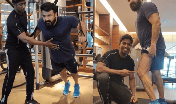 Lalettan in fitness mode