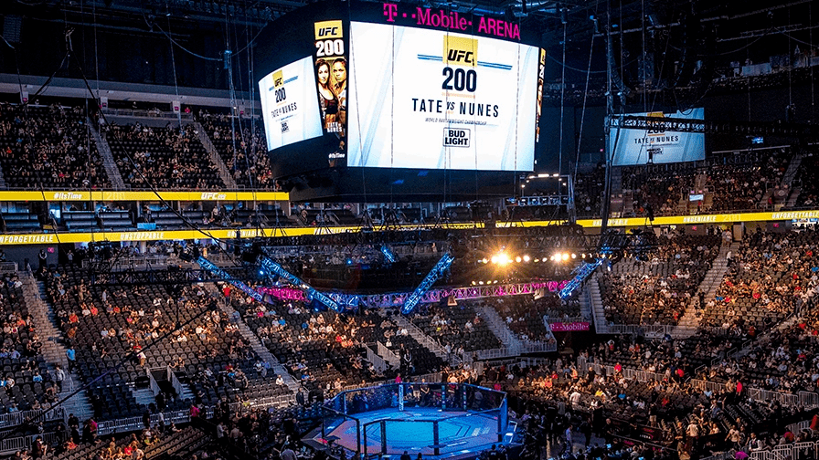 A sold-out T-Mobile Arena