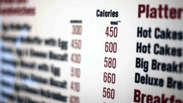 Calorie counts on Dubai menus