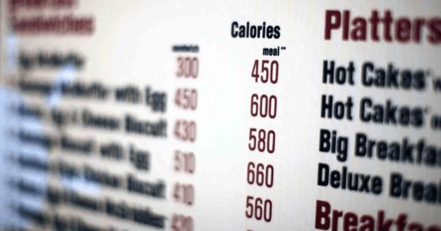 Calorie-menu