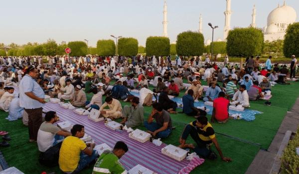 Iftar at Grand Mosque, Abu Dhabi